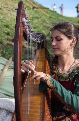 Harpiste medievales