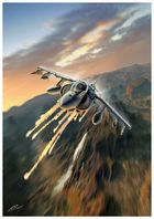 Harrier II Flaring