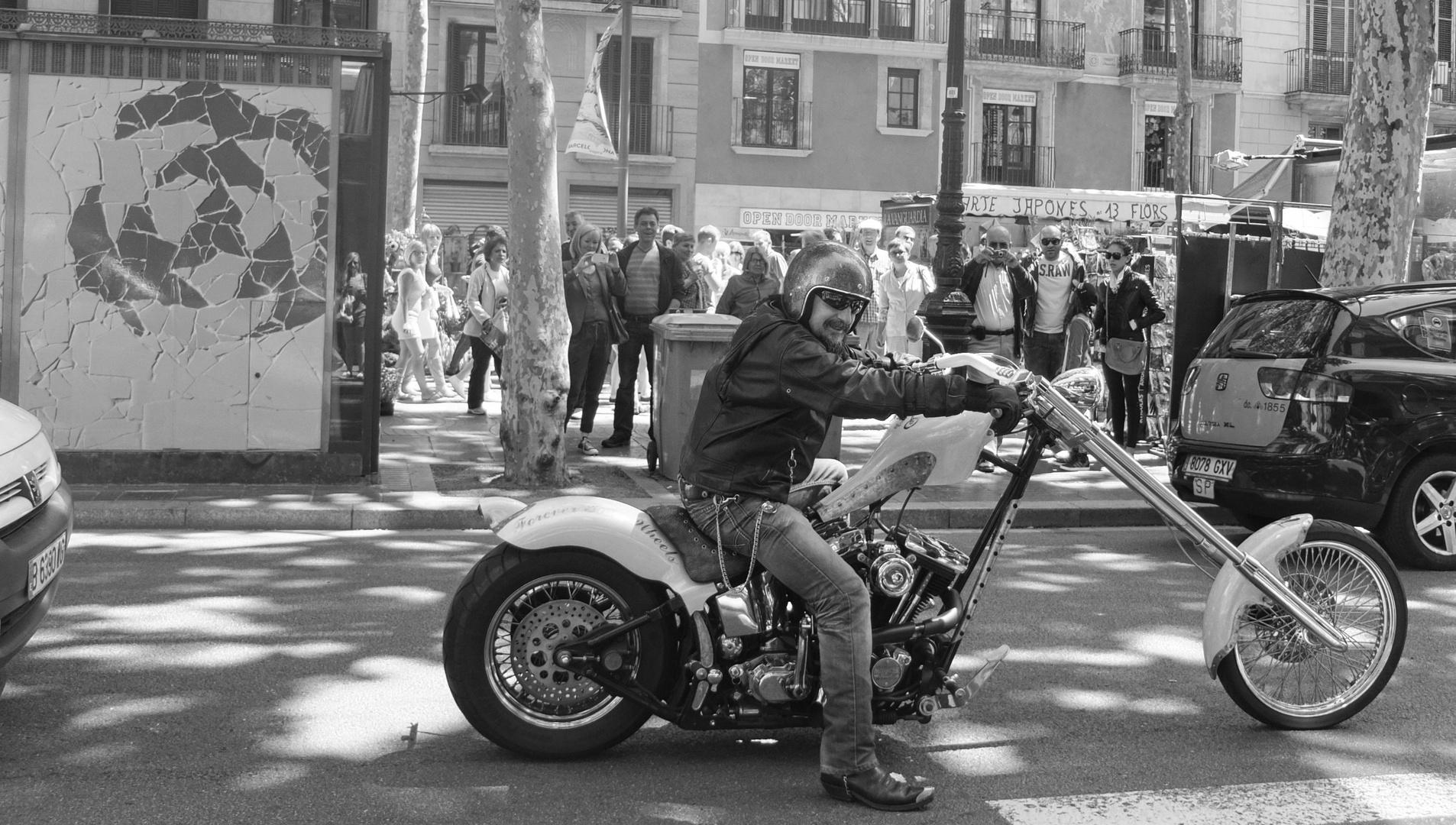 Harter netter Biker