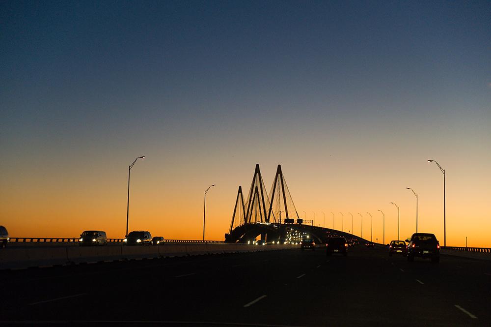 Hartman Bridge @ sunset (Pasadena Houston)