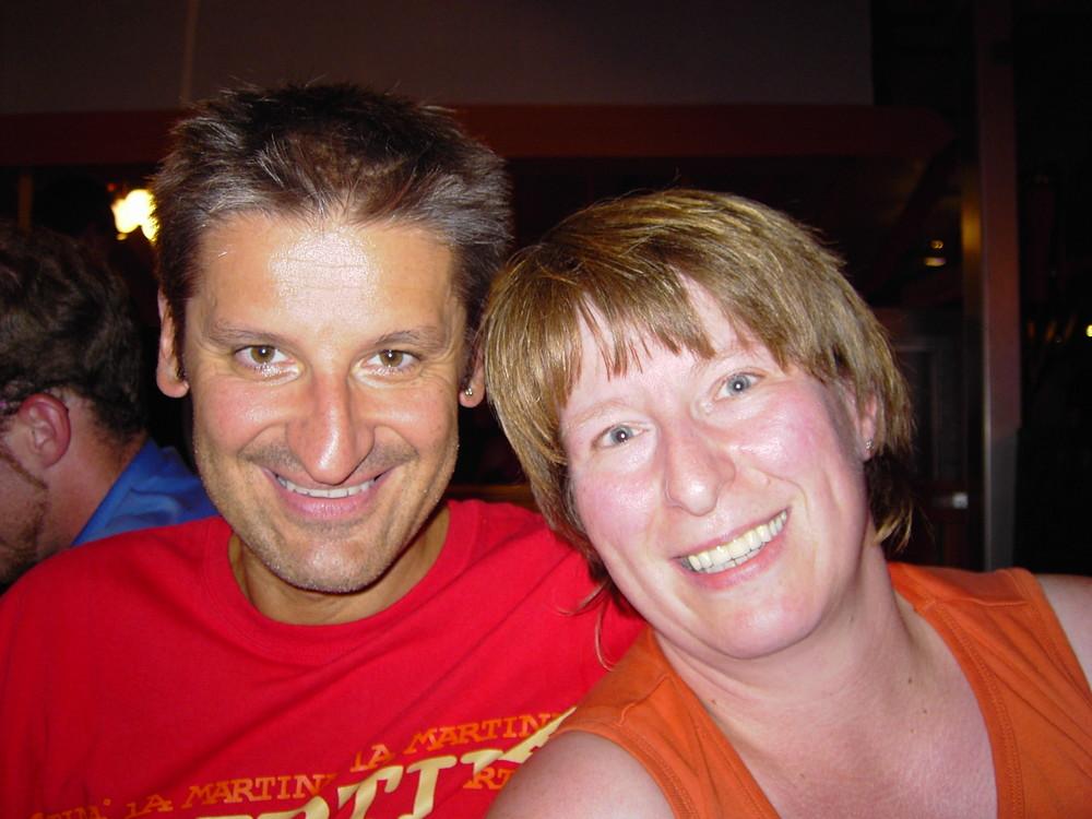 Hartmut Engler und Ich 2005 auf dem Pferdemarkt
