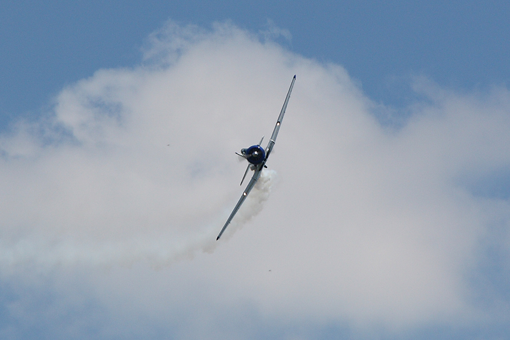 Harvard T-6 beim Überflug