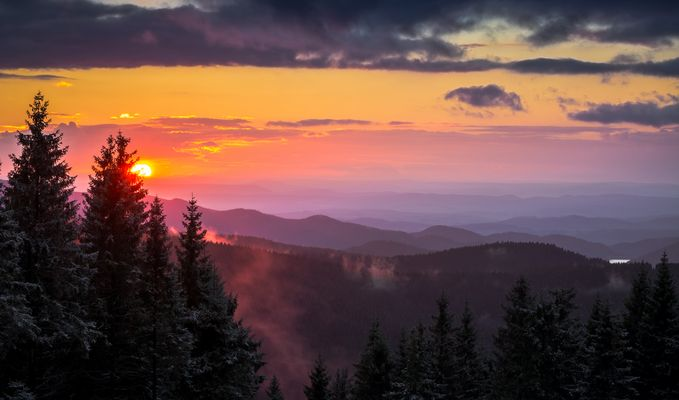 Harzer Sonnenuntergang