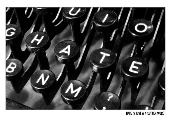 hate is just a 4 letter word
