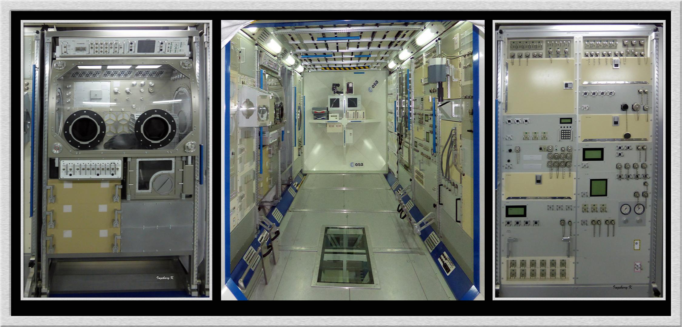 Hauptarbeitsraum in der ISS