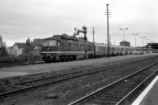 Hauptbahnhof Gotha Mitte der 1980er Jahre