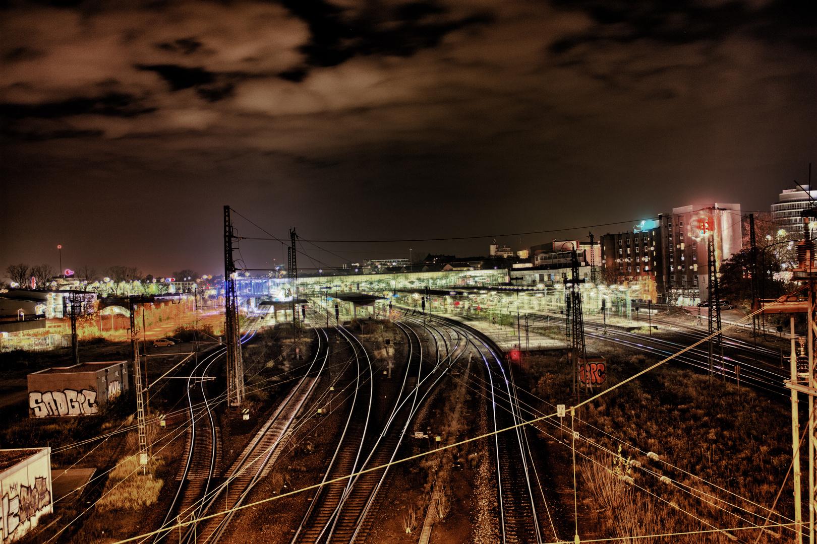 Hauptbahnhof Heidelberg nachts