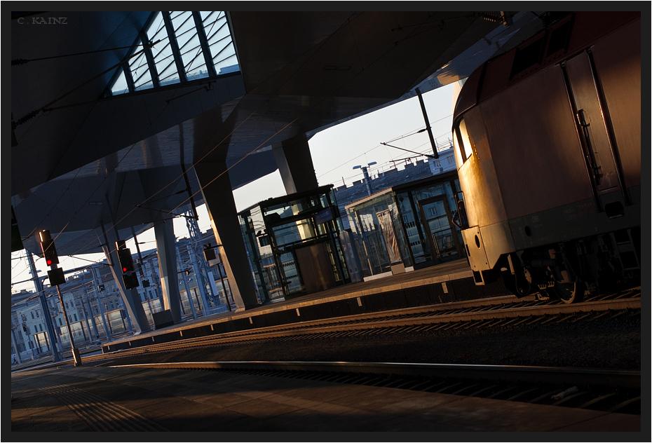 Hauptbahnhof Sunset