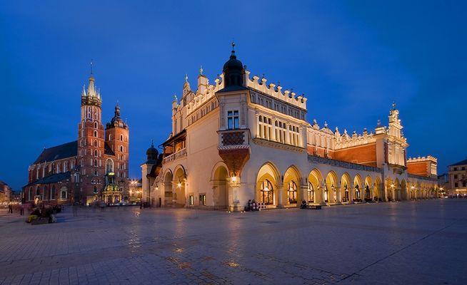 Hauptmarkt in der Altstadt in Krakau