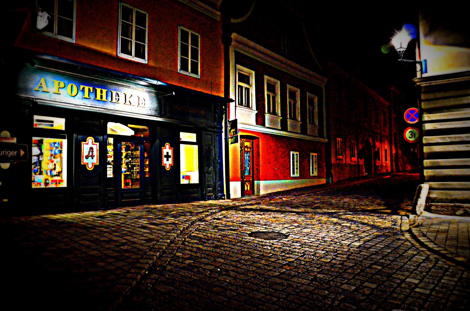 Hauptplatz Retz Nacht