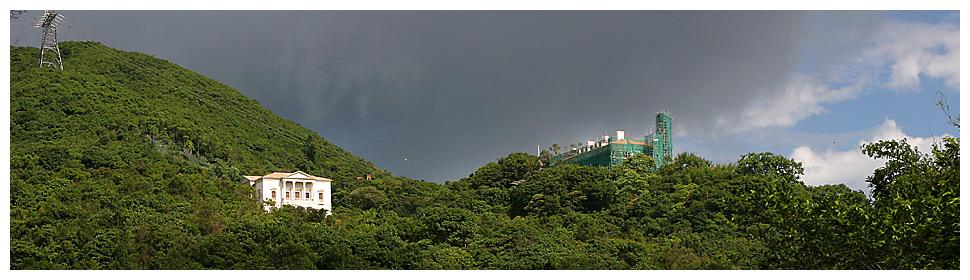 Haus am Hang auf Hong Kong Island
