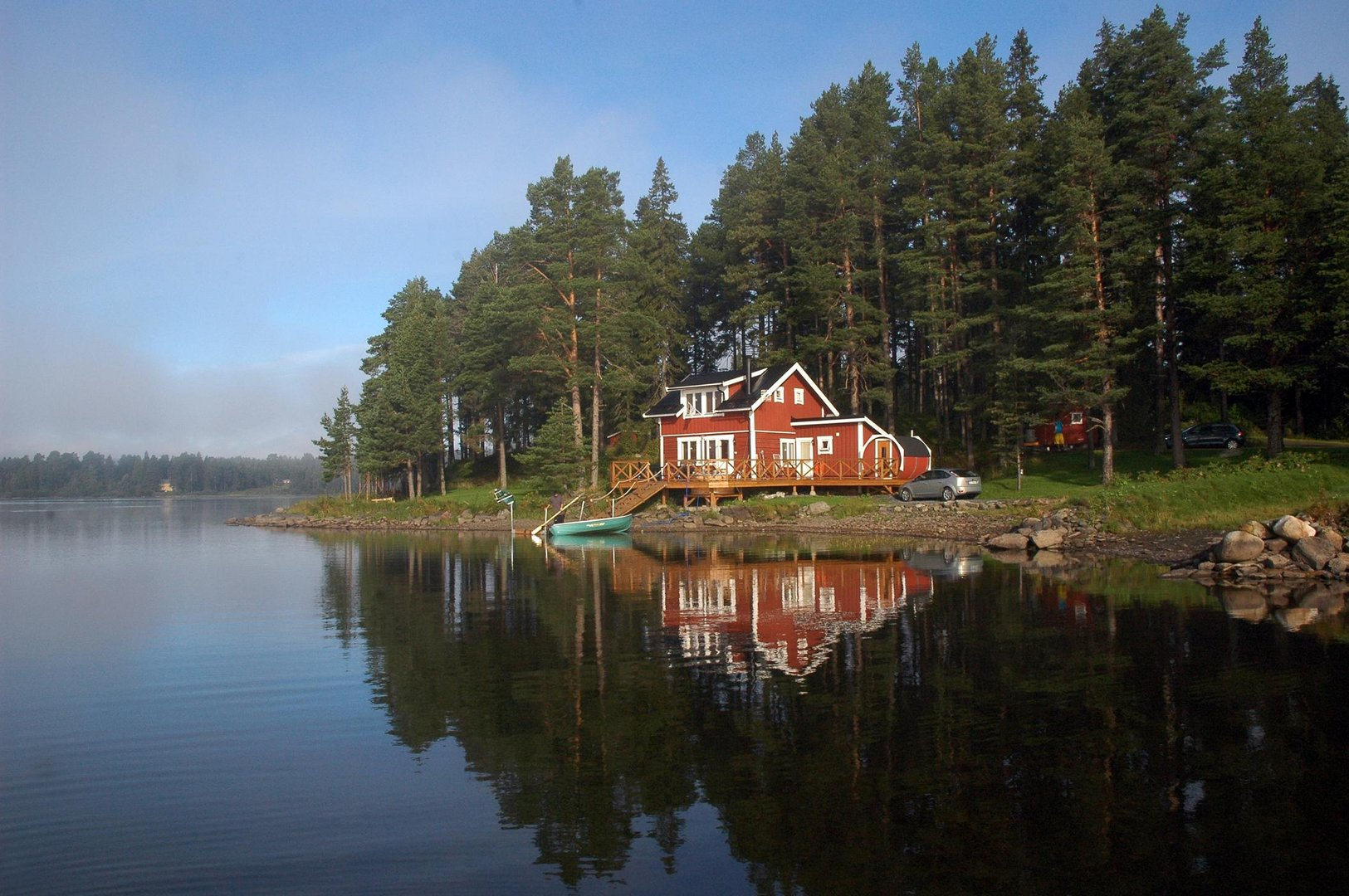 haus am see foto bild europe scandinavia sweden bilder auf fotocommunity. Black Bedroom Furniture Sets. Home Design Ideas