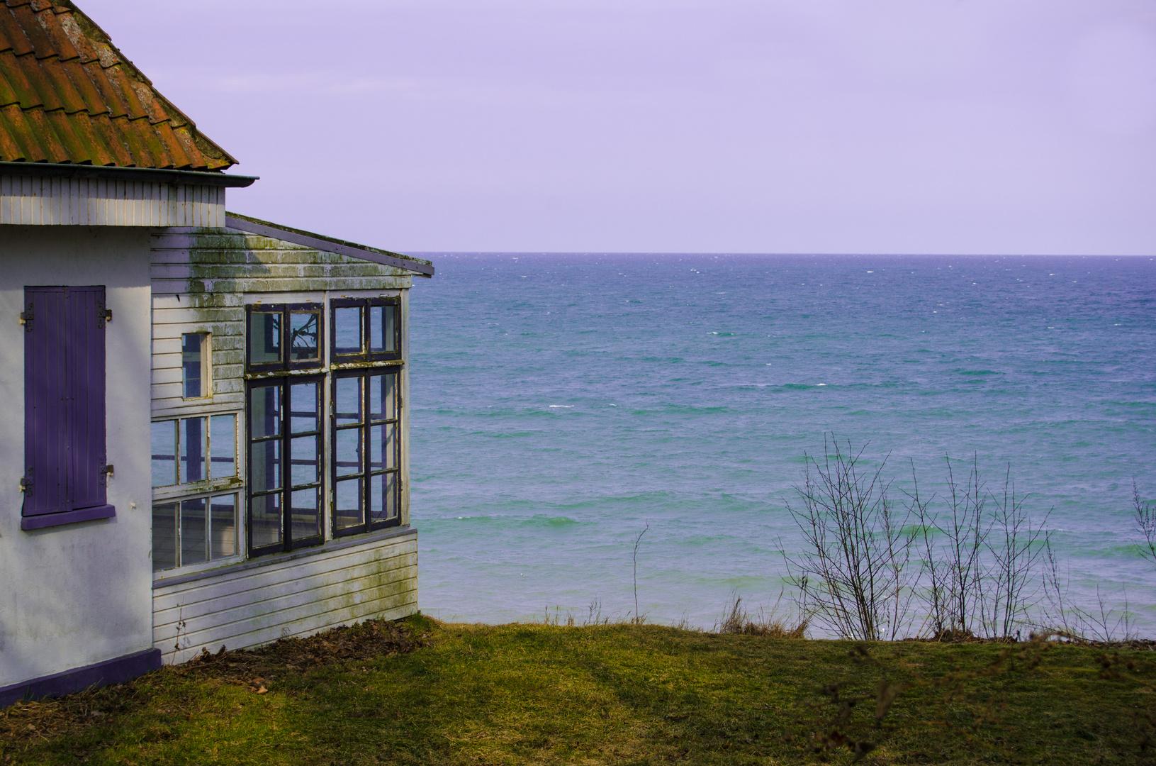 Haus an der Steilküste