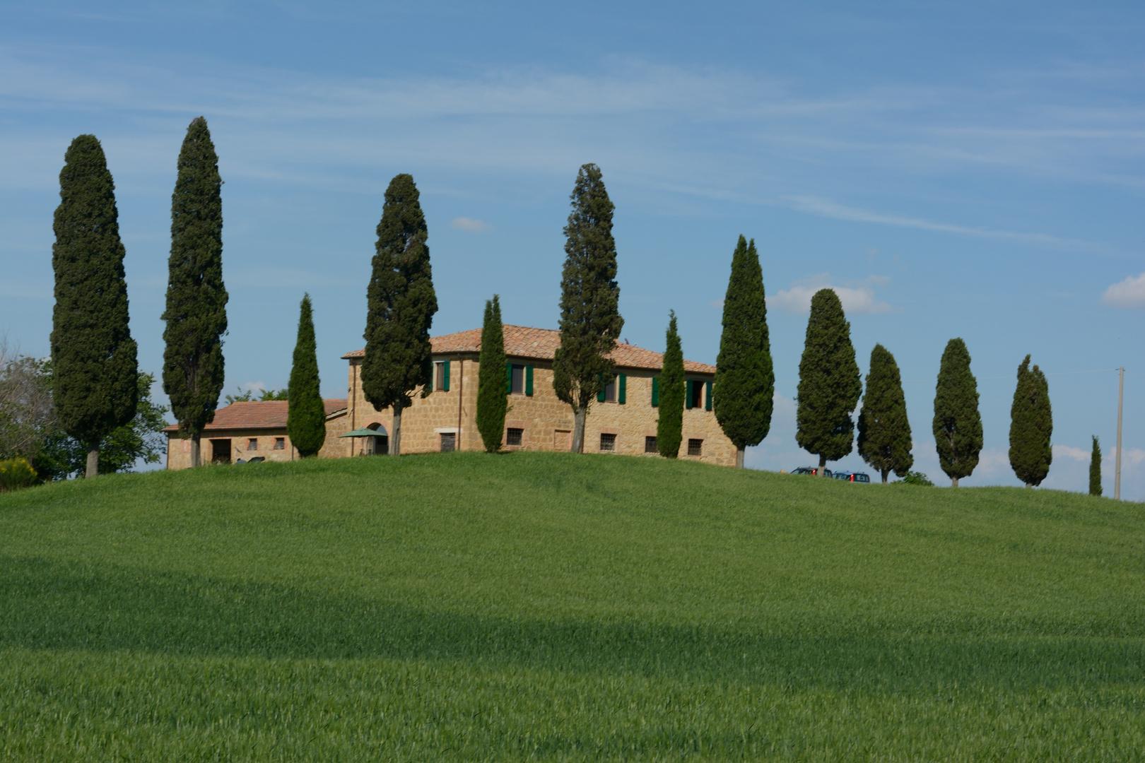 Haus an der Strada Provinciale di Chianciano bei Pienza (Toskana)