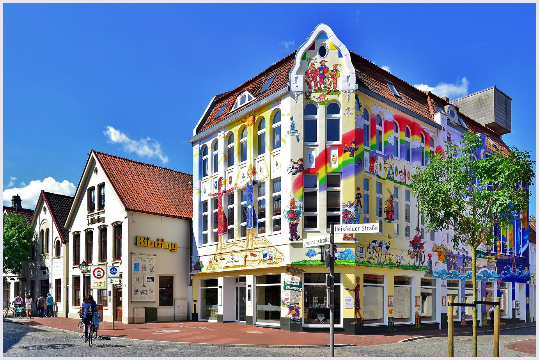 Haus Bünting mit ihrer malerischen Fassade