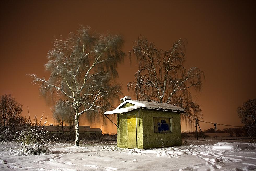 Haus im Schnee...