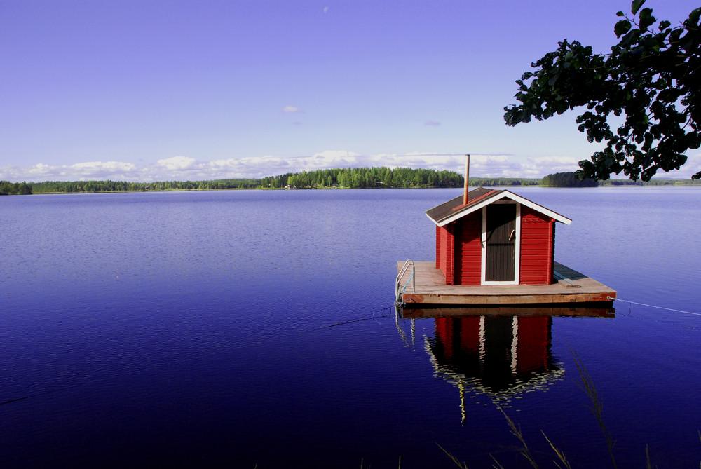 haus im wasser foto bild europe scandinavia sweden bilder auf fotocommunity. Black Bedroom Furniture Sets. Home Design Ideas