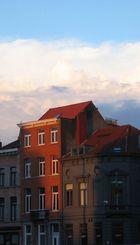 Haus in der Abendsonne