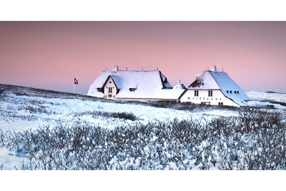 Haus Kliffende im Winter