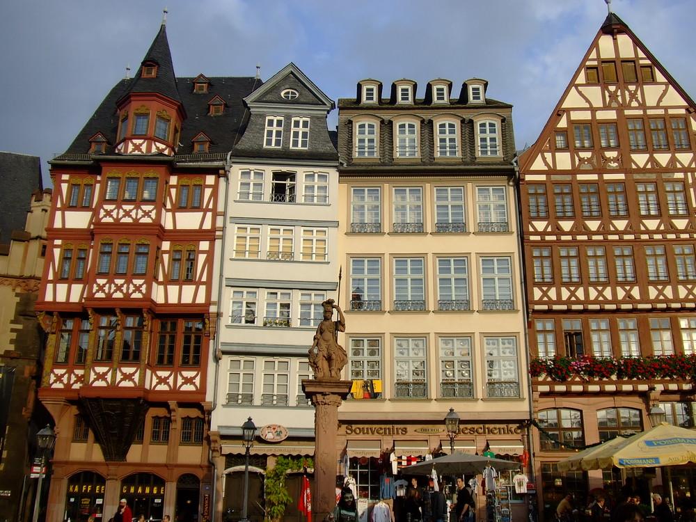 Hausfassade in Frankfurt.