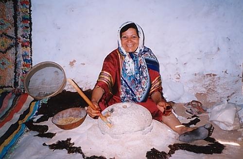 Hausfrau in Tunesien