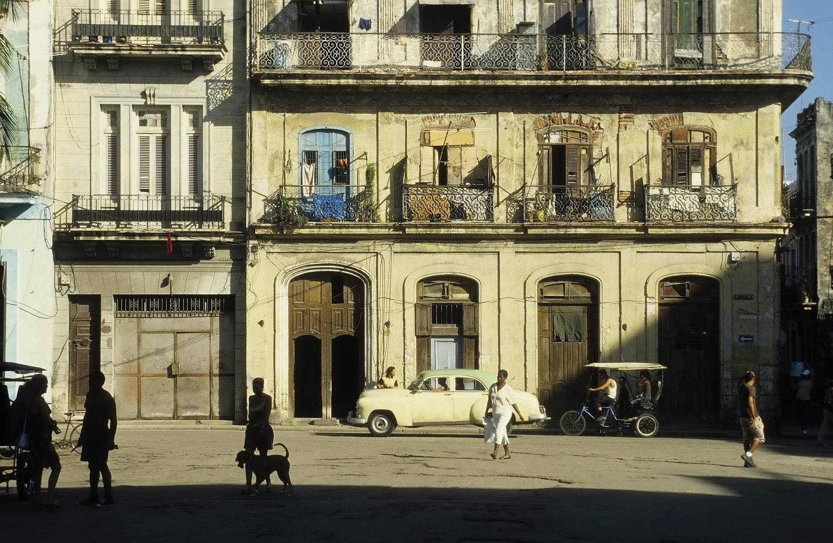 Havanna Straßenszene Analog
