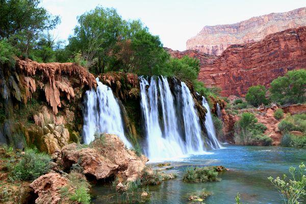 havasupai en cascade