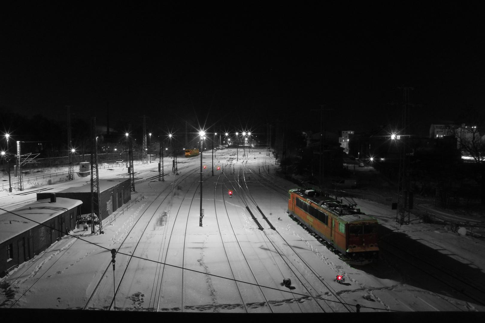 HBF Cottbus in der Winternacht