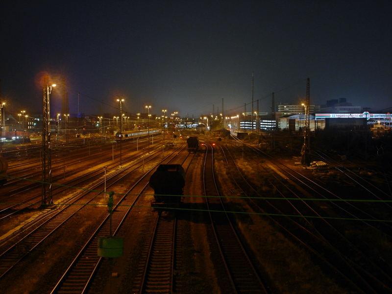 HBF HIldesheim bei Nacht