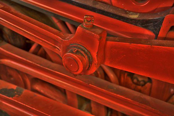 HDR Antriebsgestänge einer Dampflok