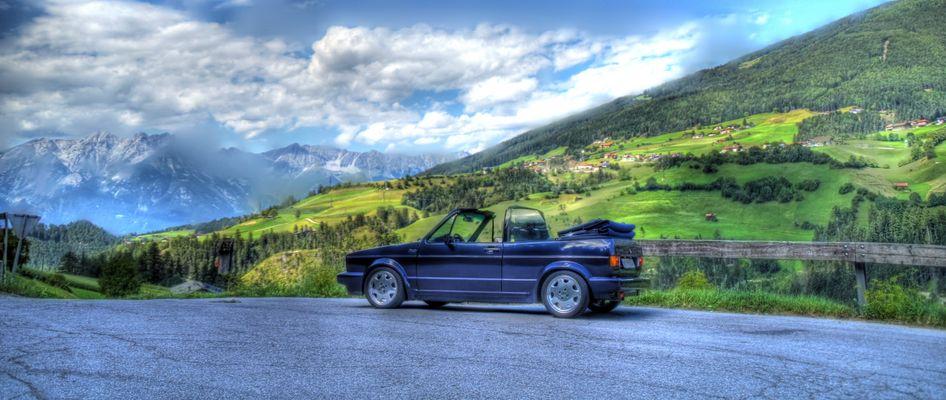 HDR-Aufnahme Golf Cabrio in Österreich