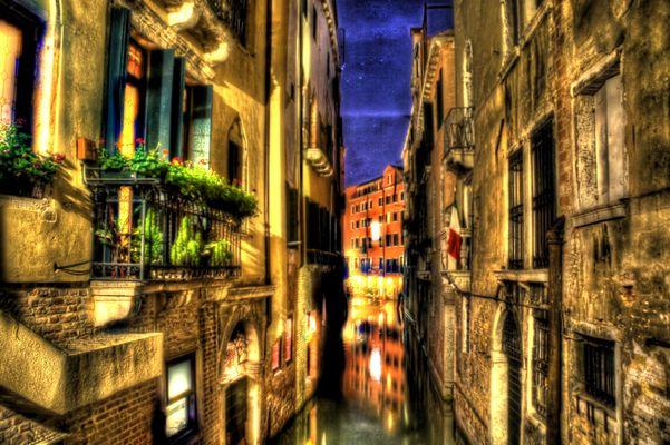 HDR-Aufnahme künstliche Farbexplosion Venedig