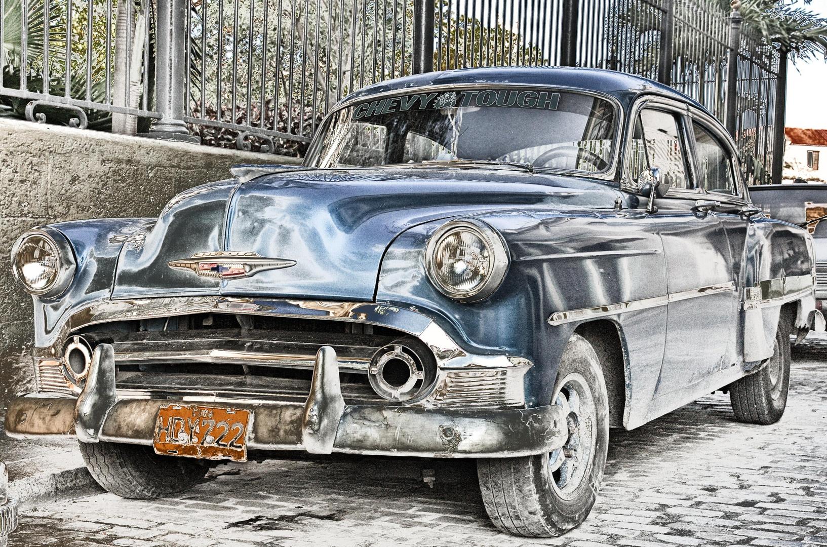 HDR Bild eines Chevrolet in Havanna