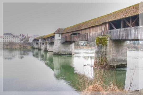 HDR Rheinbrücke Bad Säckingen Nordansicht