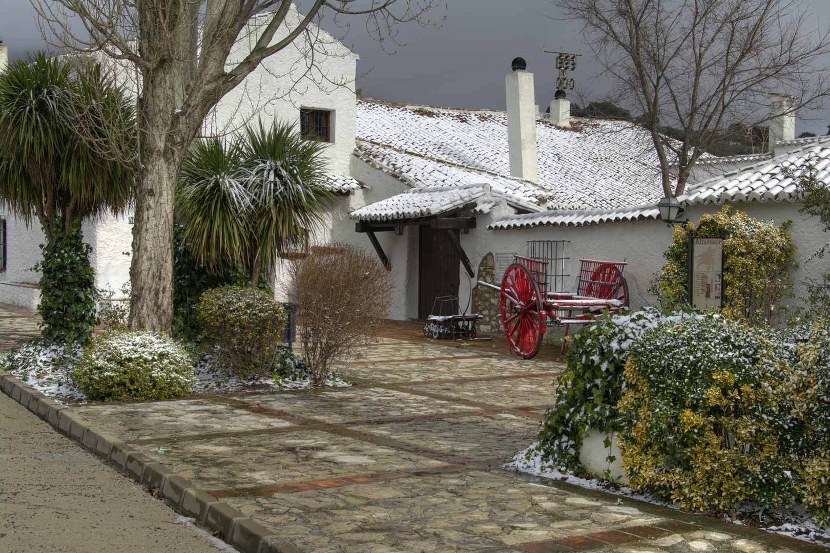 HDR Venta de Alfarnate Con Nieve