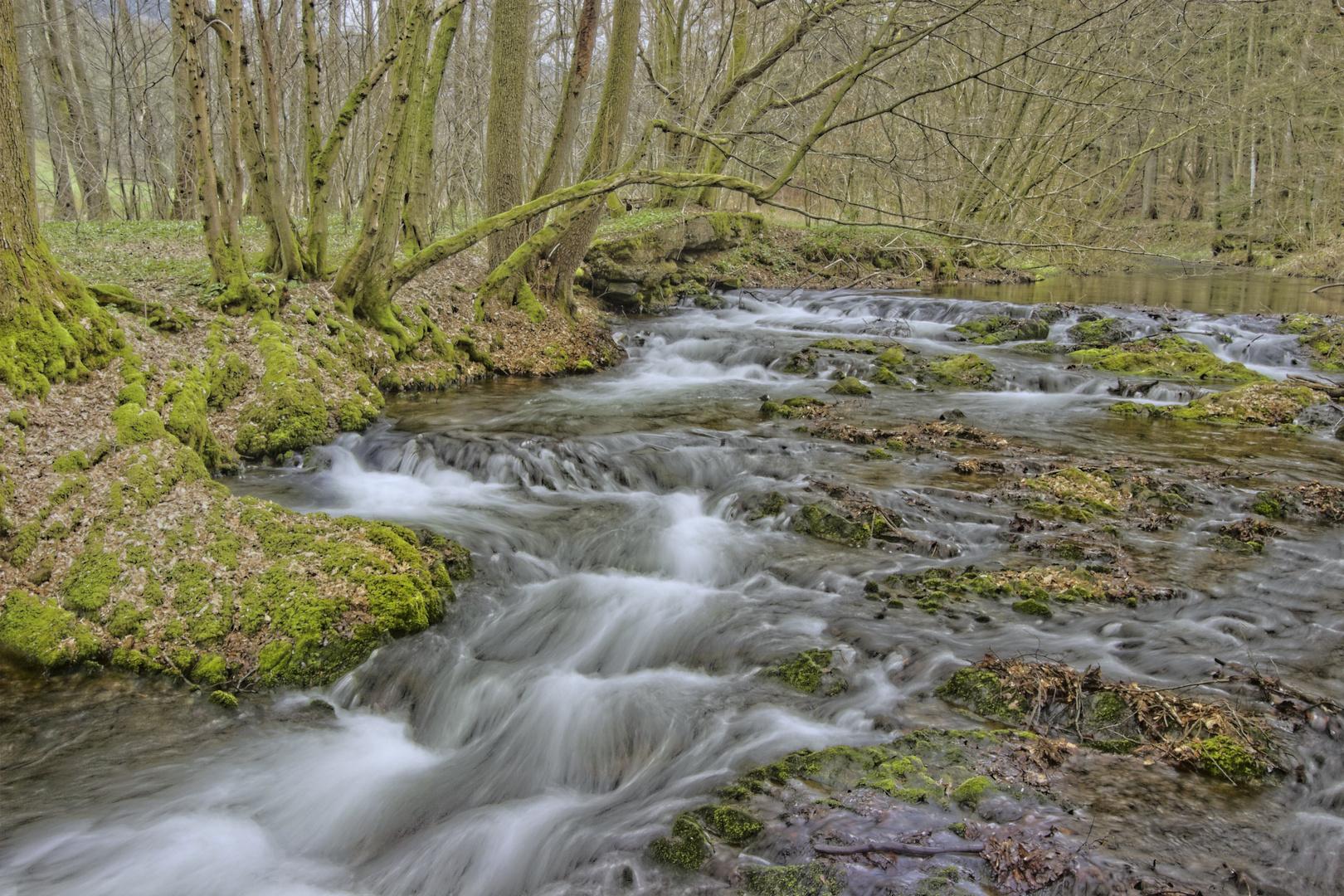 HDR von fließendem Wasser