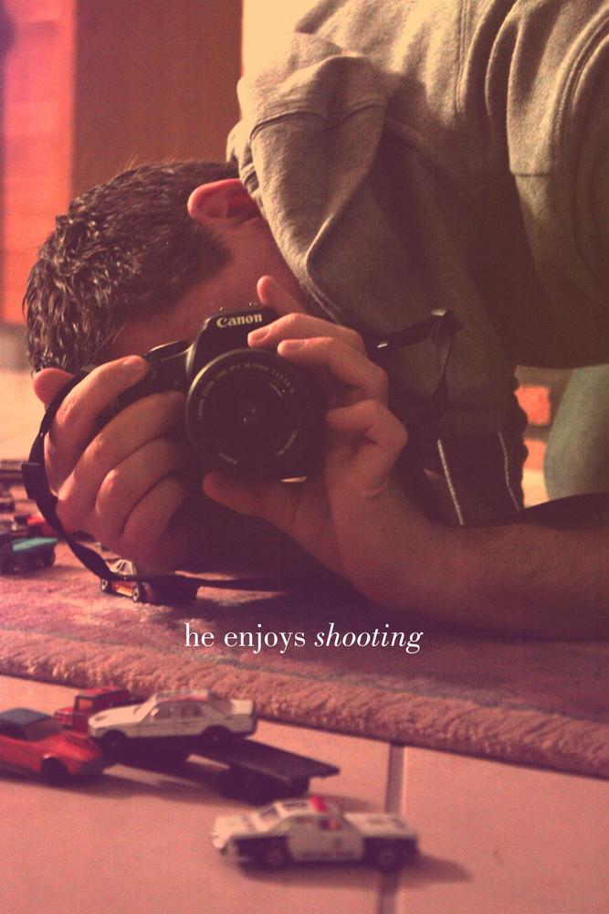 he enjoys shooting