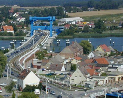 Hebebrücke in Wolgast auf Usedom