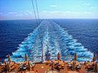 Heckblick aufs Meer