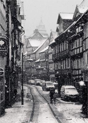 Heftiger Wintereinbruch in südniedersächsischer Kleinstadt #3