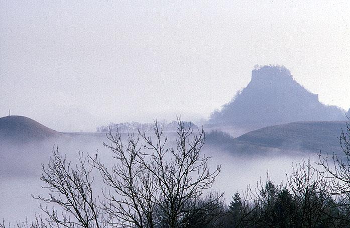 Hegau. Wulkanlandschaft im Winter.
