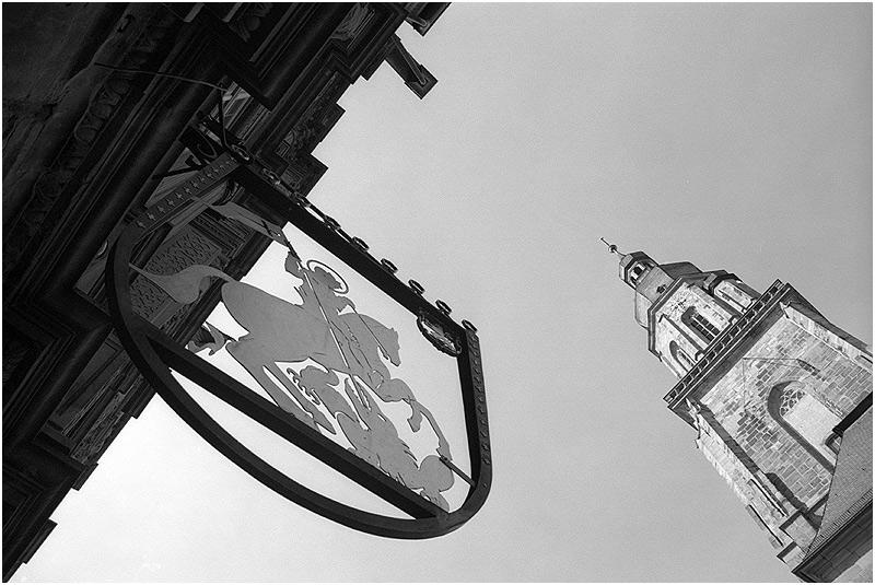 """Heidelberg: Haus zum """"Ritter"""" und Heiliggeistkirche"""