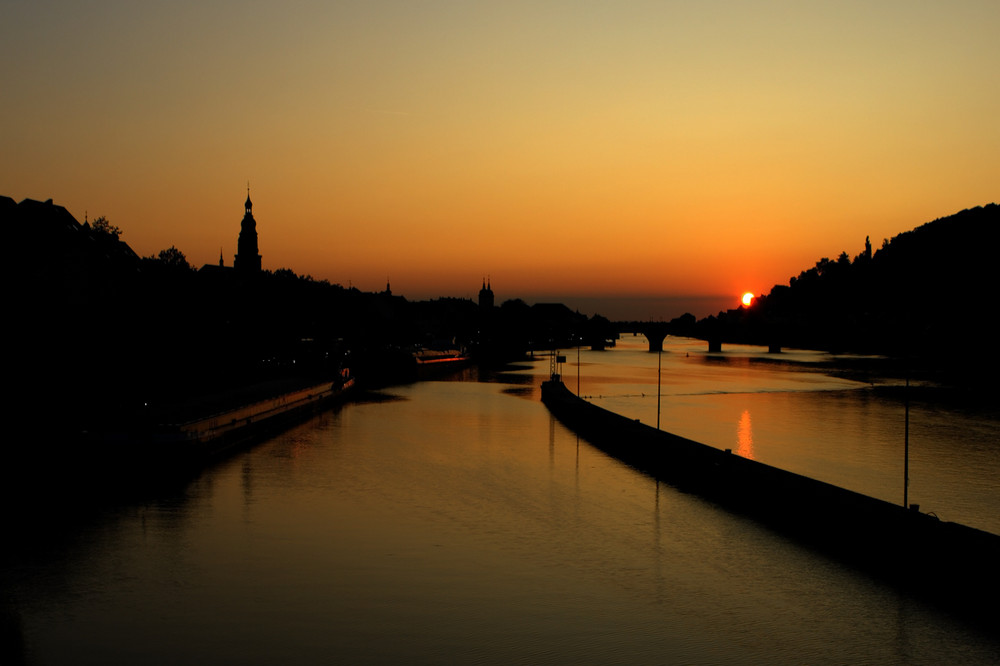 Heidelberg im Sonnenuntergang