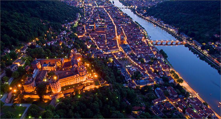 "Heidelberg @ Night I ""Fliegendes Stativ"""