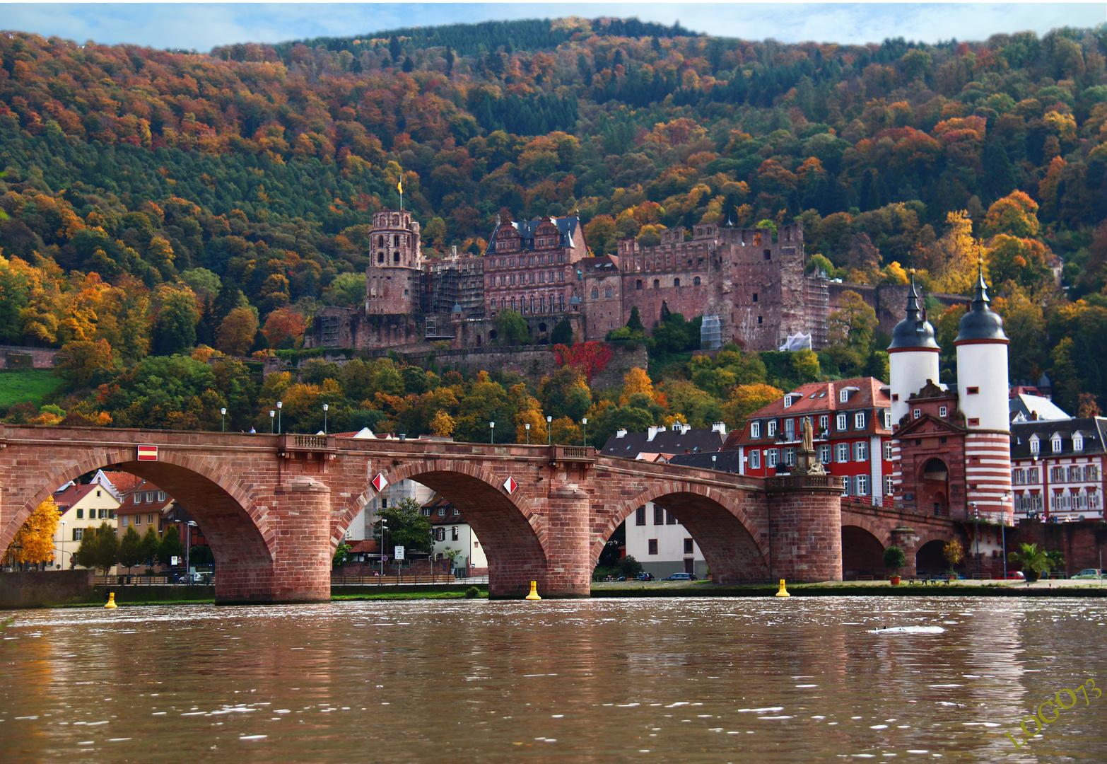 Heidelberg schloss im herbs