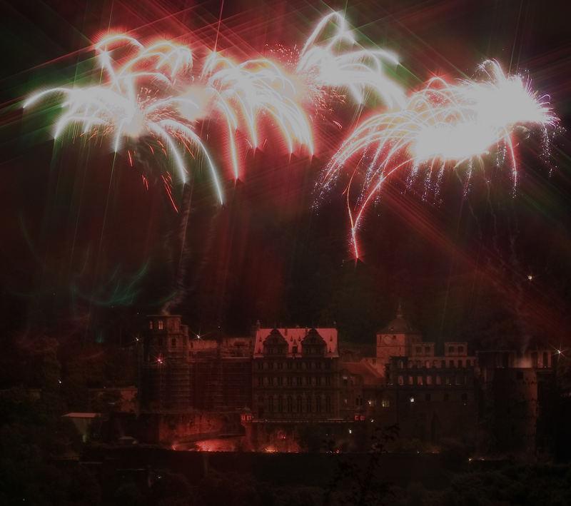 Heidelberg - Schlossbeleuchtung