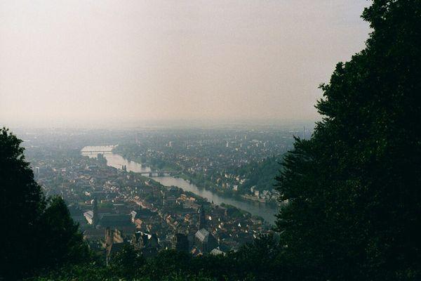 Heidelberg vom Rindenhäuschen aus gesehen