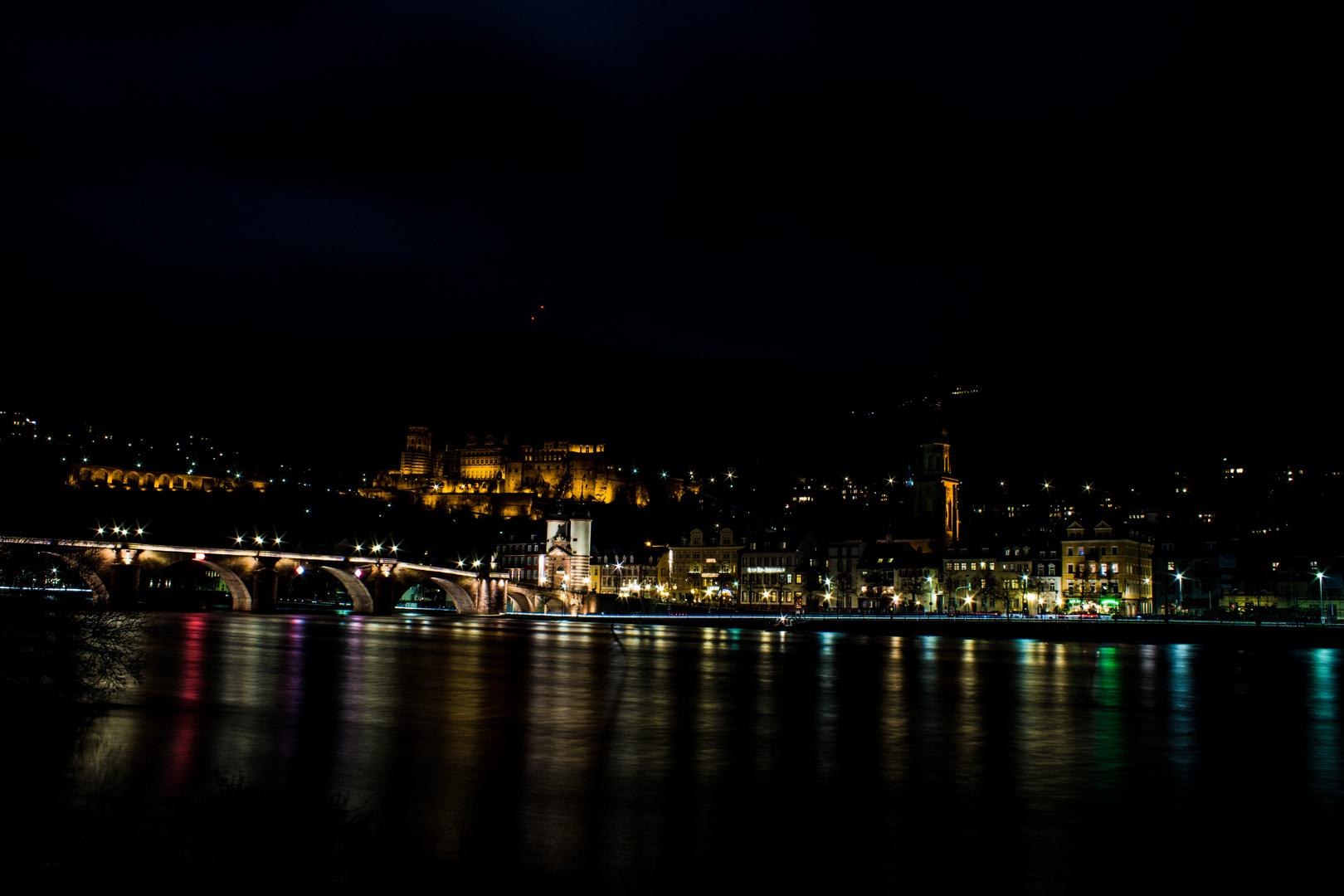 Heidelberger-Schloss bei Nacht 2