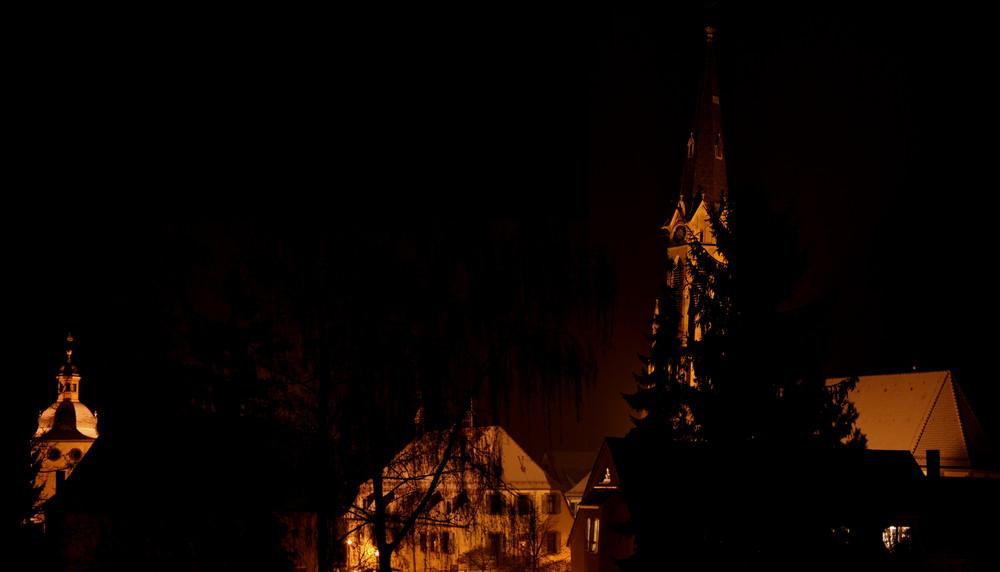 Heidelsheim bei Nacht