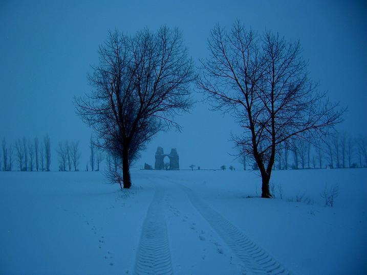 Heidentor im Winter